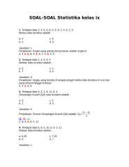 Soal Statistika Kelas 3 SMP .doc