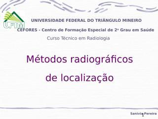 Métodos radiográficos de localização.ppt