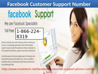 Facebook Customer Support Number 1-866-224-8319 (toll-free) help of forgot Facebook account.pptx