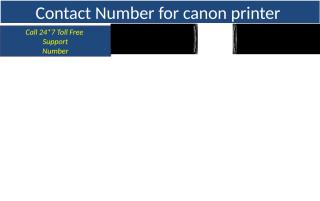 Contact Number for canon printer (2).pptx