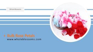 A Flower decoration with Bulk Rose petals.pptx