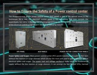 How to Ensure the Safety of a Power control center.pdf