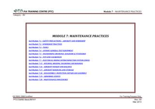 Module 7 (Maintenance Practices) Sub Module 7.1 (Safety Precautions-Aircraft and Workshop).pdf