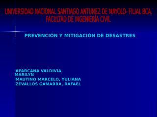 prevencion y mitigacion de desastres - pre- final.ppt
