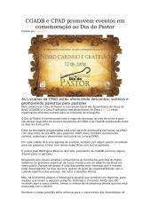 CGADB e CPAD promovem eventos em comemoração ao Dia do Pastor.doc