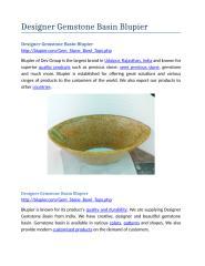 Designer Gemstone Basin Blupier.docx