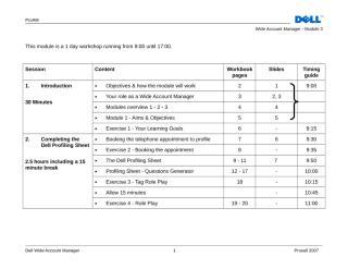 WAM Module 3 Trainer Guide Agenda.doc