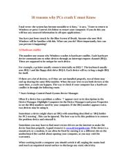 10 reasons why PCs crash U must Know.doc