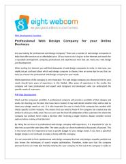 Professional Web Design Company for your Online Business.doc