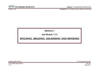 Module 7 (Maintenance Practices) Sub Module 7.15 (Welding, Brazing, Soldering and Bonding).pdf