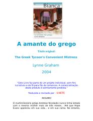 Lynne Graham - A amante do grego.doc