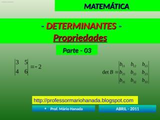 determinantes - parte - 03.pps