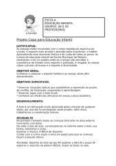 Projeto Copa para Educa+º+úo Infantil.doc