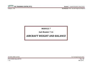 Module 7 (Maintenance Practices) Sub Module 7.16 (Aircraft Weight and Balance) .pdf